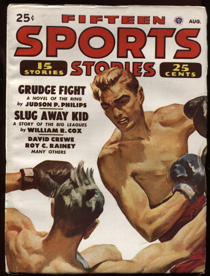 Image for Fifteen Sports Stories. 1948 August. Boxing Cover.