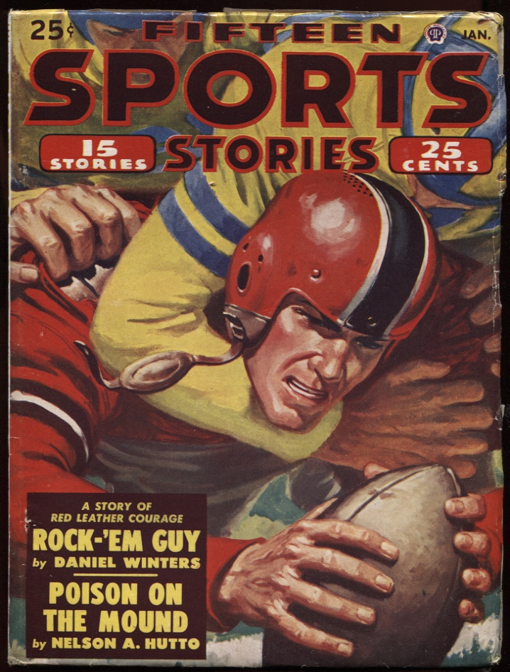 Image for Fifteen Sports Stories. 1951 January. Football Cover.