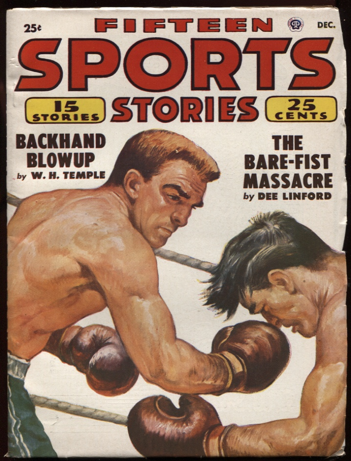 Image for Fifteen Sports Stories. 1951 December. Boxing Cover.