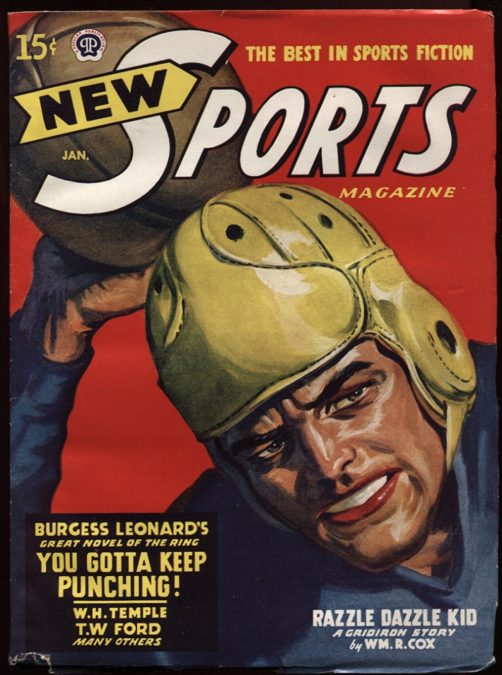 Image for New Sports. 1948 January. Leatherhead Football Cover.
