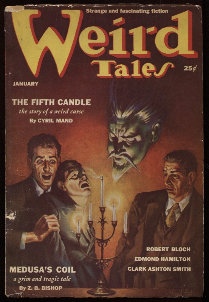 "Image for Weird Tales. 1939 January. ""Medusas Coil."" ""Waxworks"""