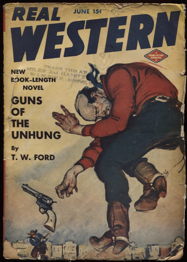 "Image for Real Western 1943 June. ""Guns of the Unhung."""