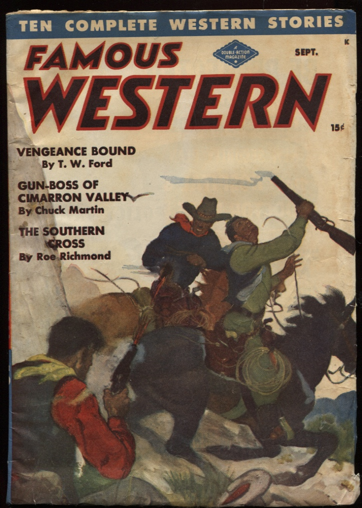 "Image for Famous Western 1947 September. ""Vengeance Bound."""