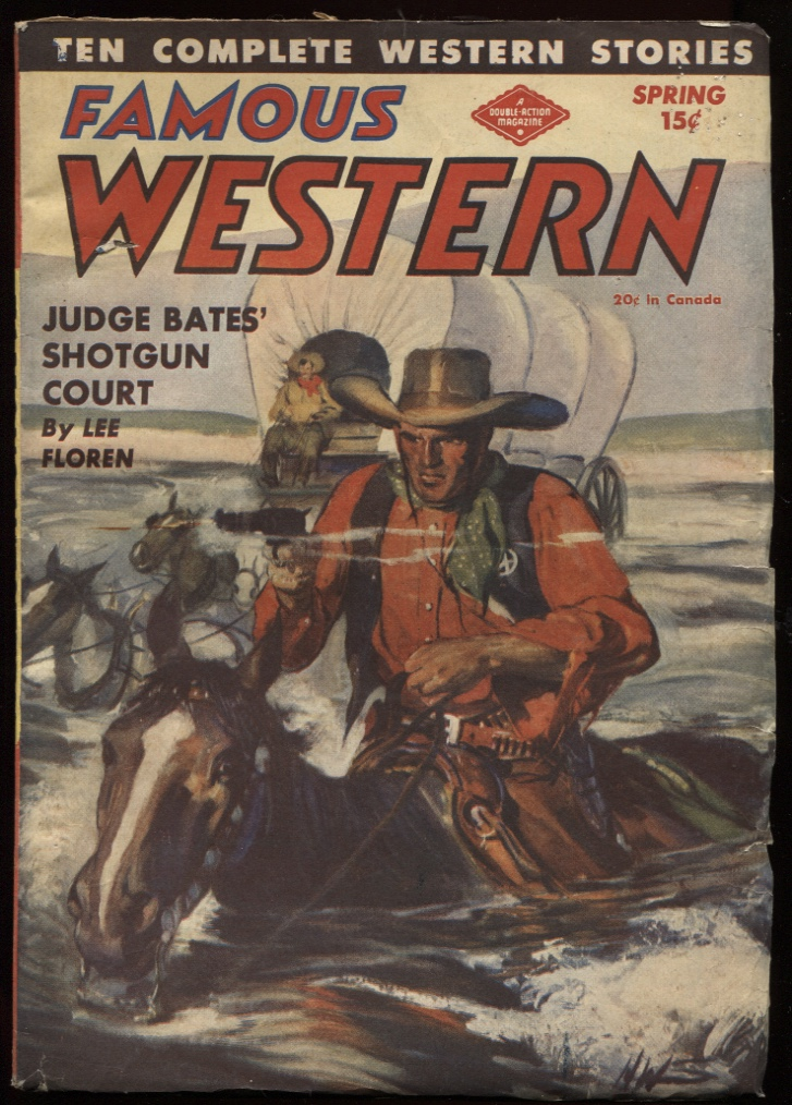 "Image for Famous Western 1945 Spring. ""Judge Bates' Shotgun Court."""