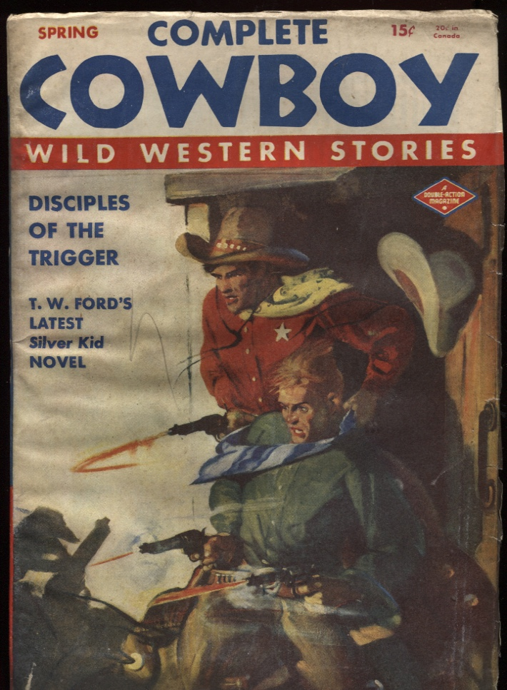 "Image for Complete Cowboy 1945 Spring. ""Disciples of the Trigger."""