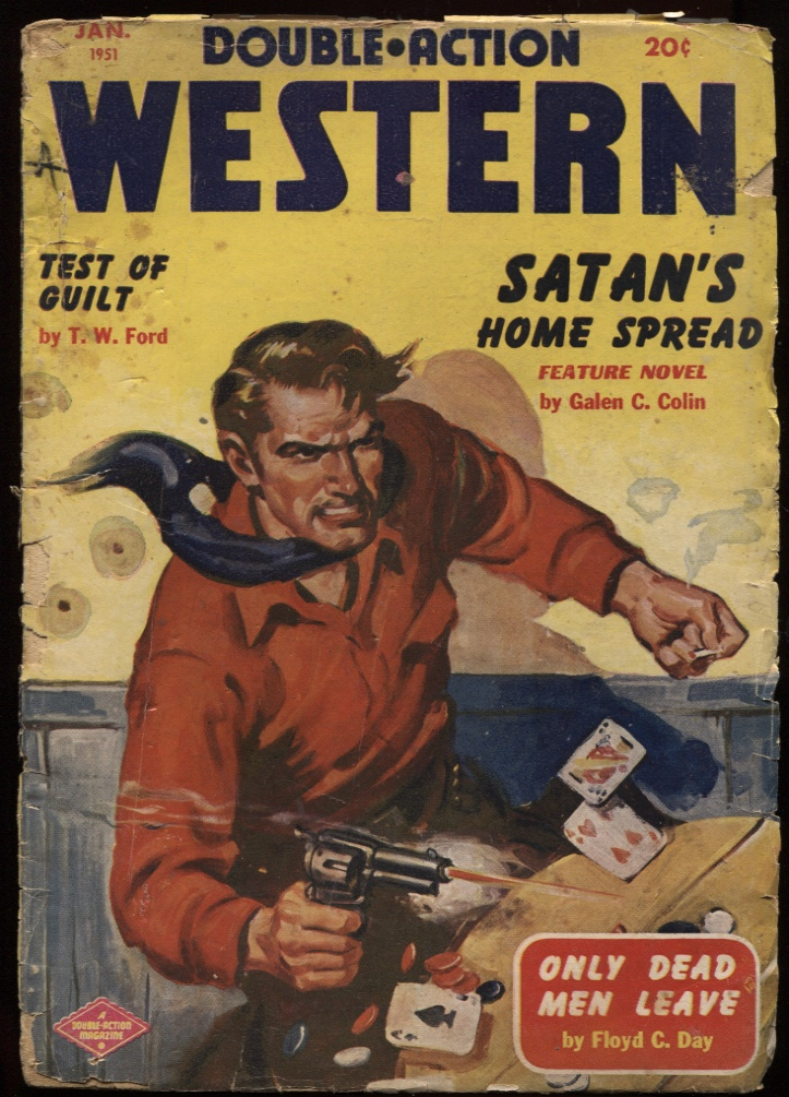 "Image for Double Action Western 1951 January. ""Test of Guilt."""