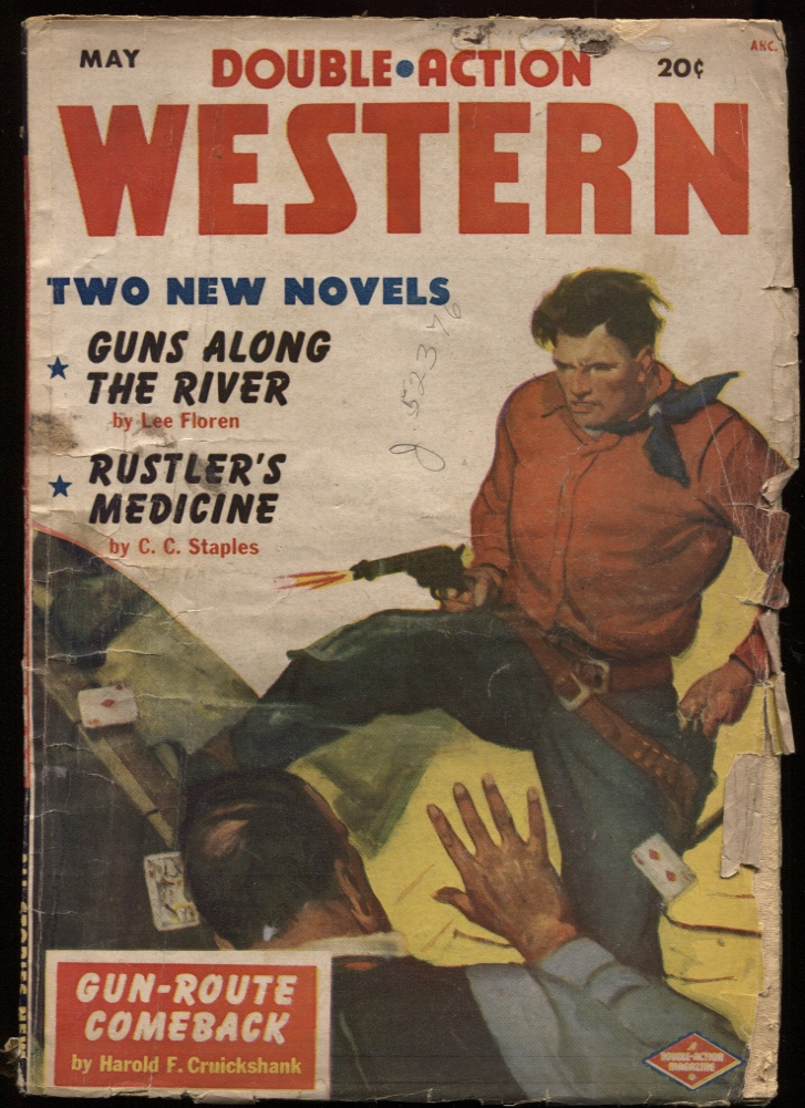 "Image for Double Action Western 1951 May. ""Guns Along the River."""