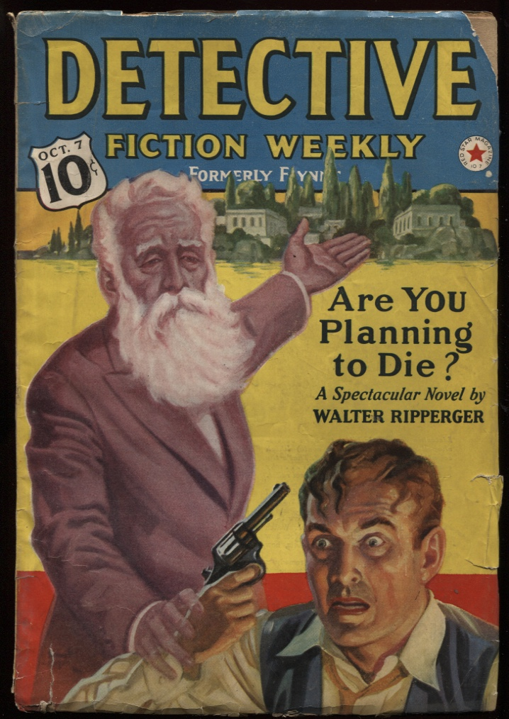 "Image for Detective Fiction Weekly 1939 October 7 ""Walk Softly, Murderer"""