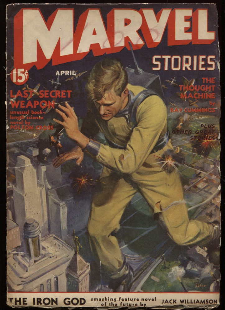 "Image for Marvel Stories1941 April. ""The Iron God."""