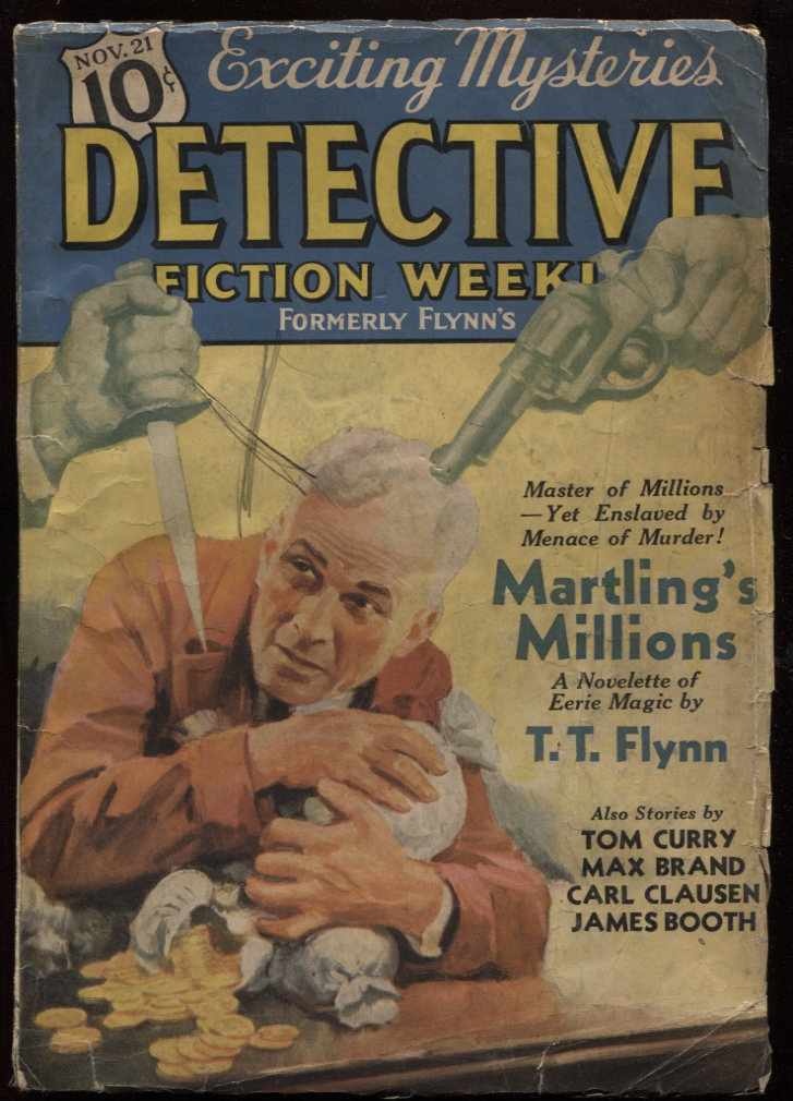 "Image for Detective Fiction Weekly 1936 November 21. ""Martling's Millions"" ""Seven Faces"""