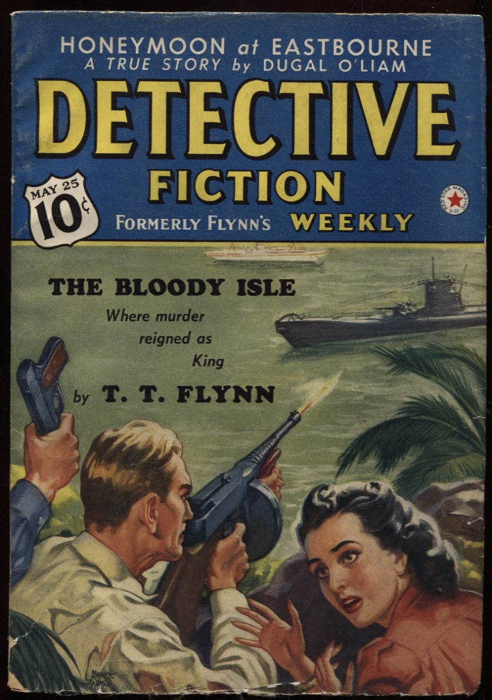 "Image for Detective Fiction Weekly 1940 May 25. (137.2) Contains ""The Bloody Isle"""