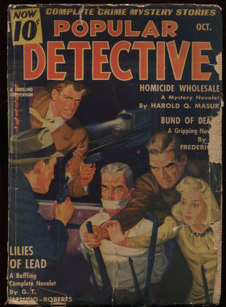 "Image for Popular Detective1941 October. (21.3) Contains ""Lilies of Lead"""