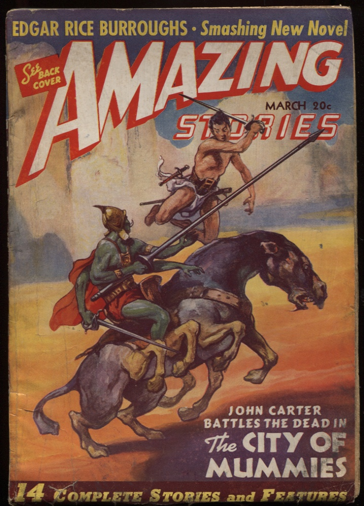 "Image for Amazing Stories 1941 March ""The City of Mummies"""