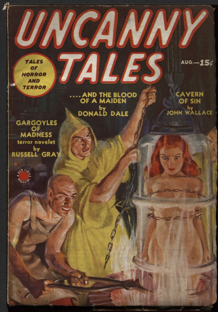 Image for Uncanny Tales1939 August.