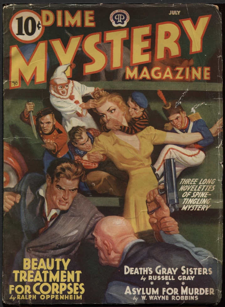 Image for Dime Mystery Magazine 1940 July.