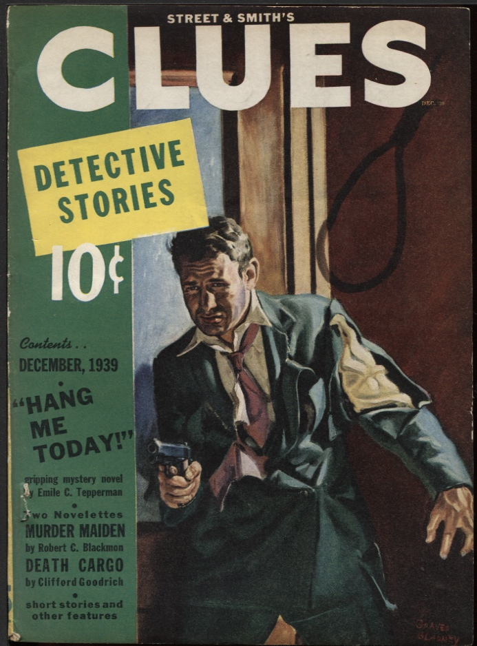 Image for Clues Detective Stories, 1939 December.