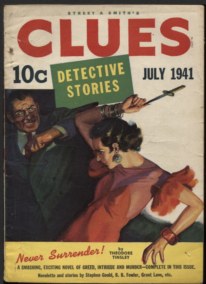 Image for Clues Detective Stories, 1941 July.