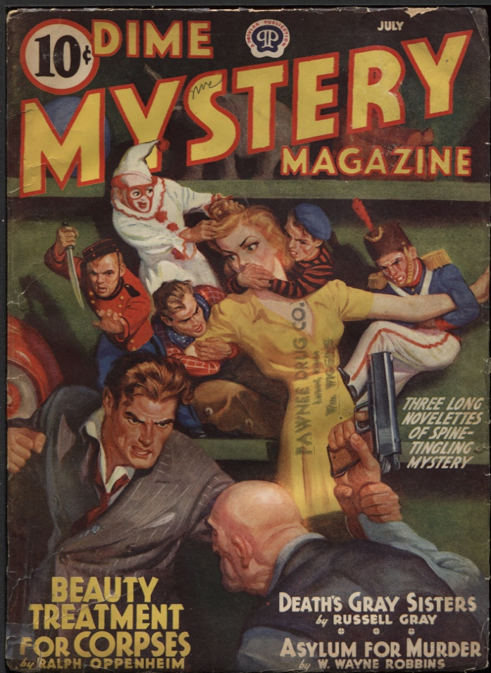 Image for Dime Mystery Magazine, 1940 July.