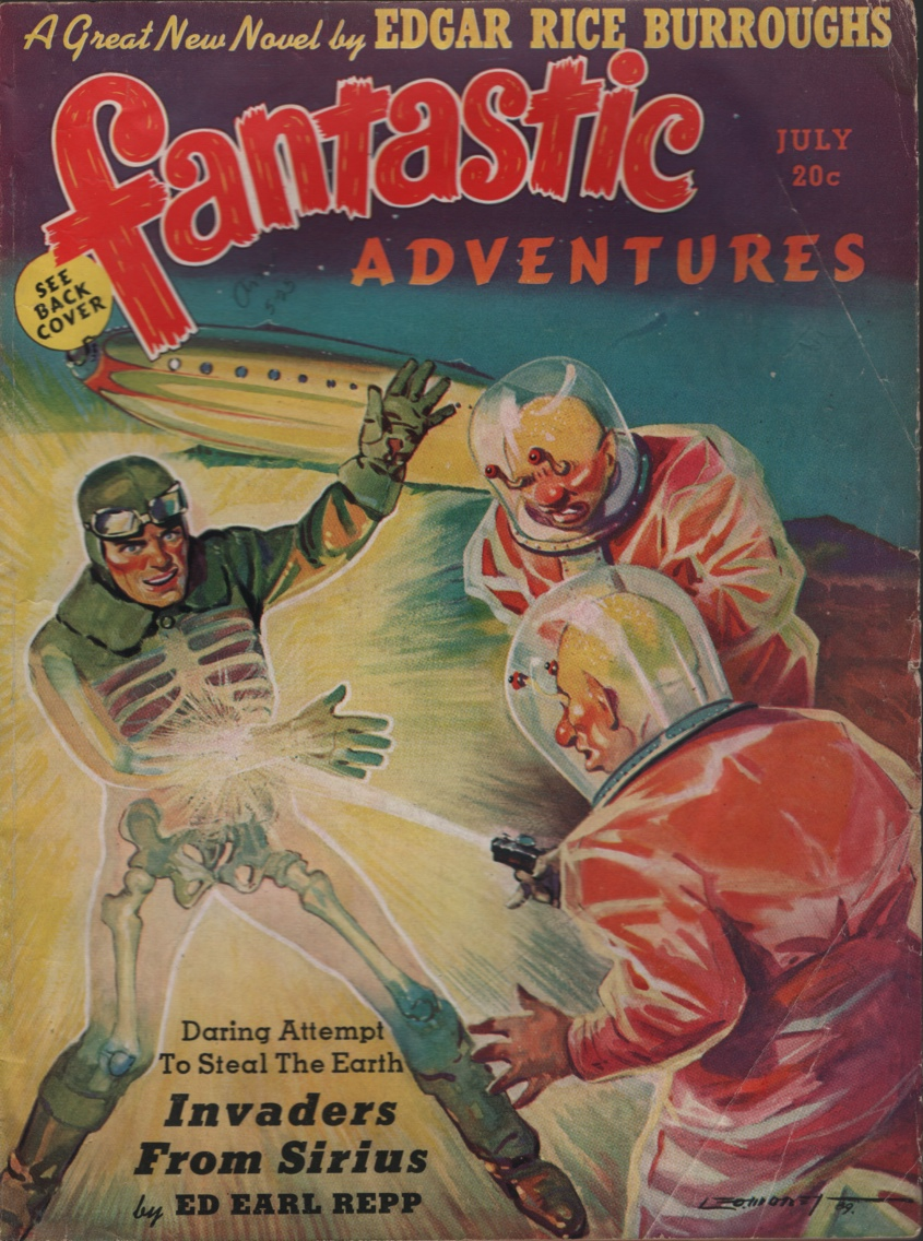 Image for Fantastic Adventures 1939 July, #2. Contains the Scientists Revolt