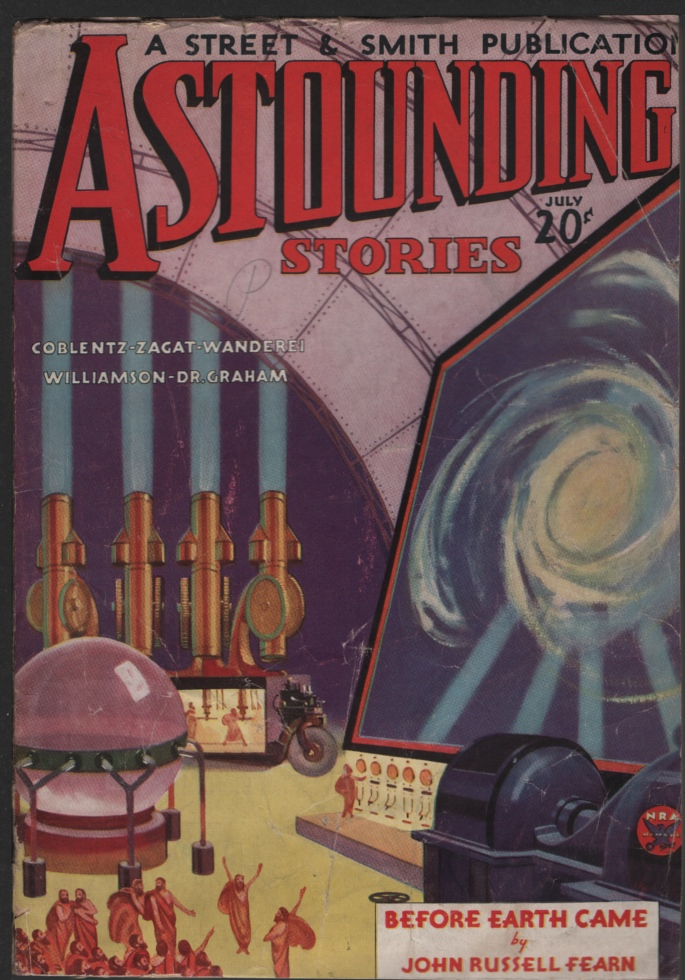 Image for Astounding Stories 1934 July. Legion of Space Part Four.