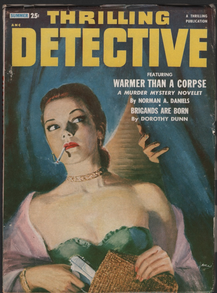 "Image for Thrilling Detective 1953 Summer. Contains ""Warmer Than a Corpse"""