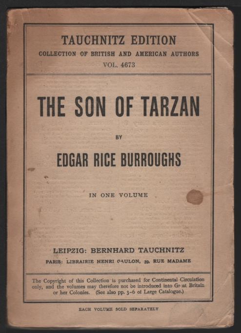 Image for Son of Tarzan, The.