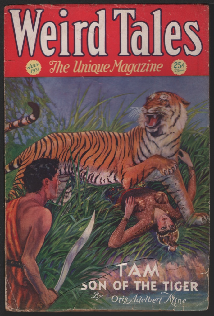 Image for Weird Tales 1931 July. Contains the Outsider.