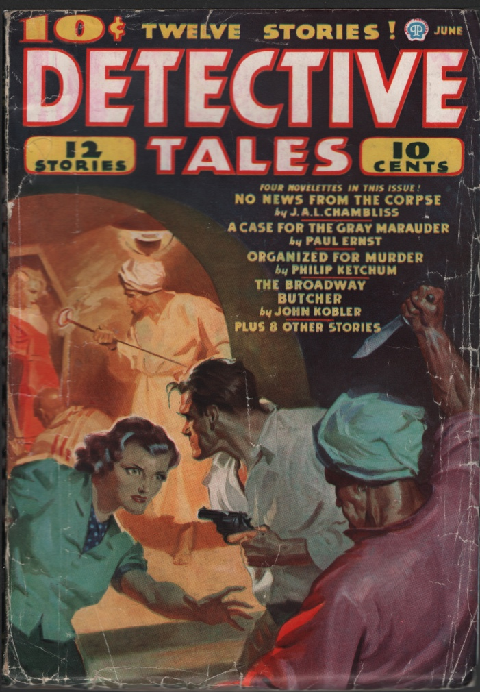 Image for Detective Tales 1937 June. Branding Cover.
