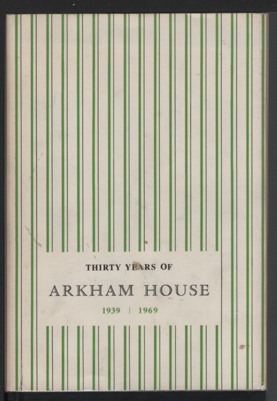 Image for Thirty Years of Arkham House 1939-1969.