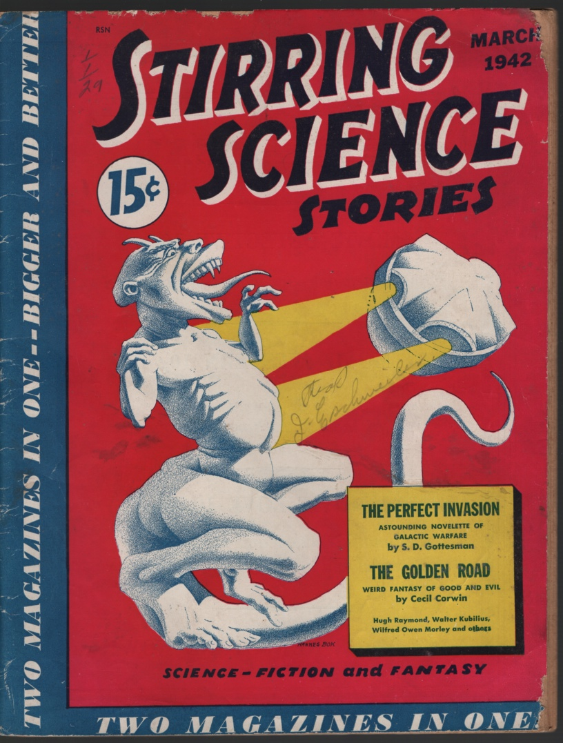 Image for Stirring Science Stories 1942 March.