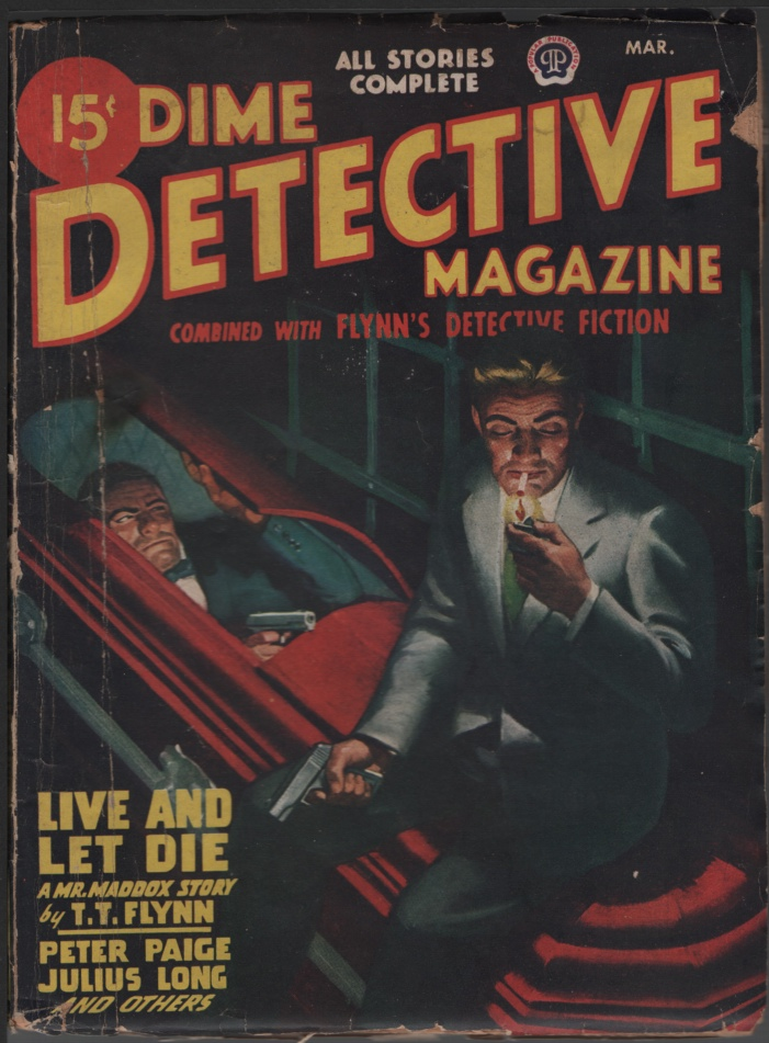 Image for Dime Detective 1947 March.