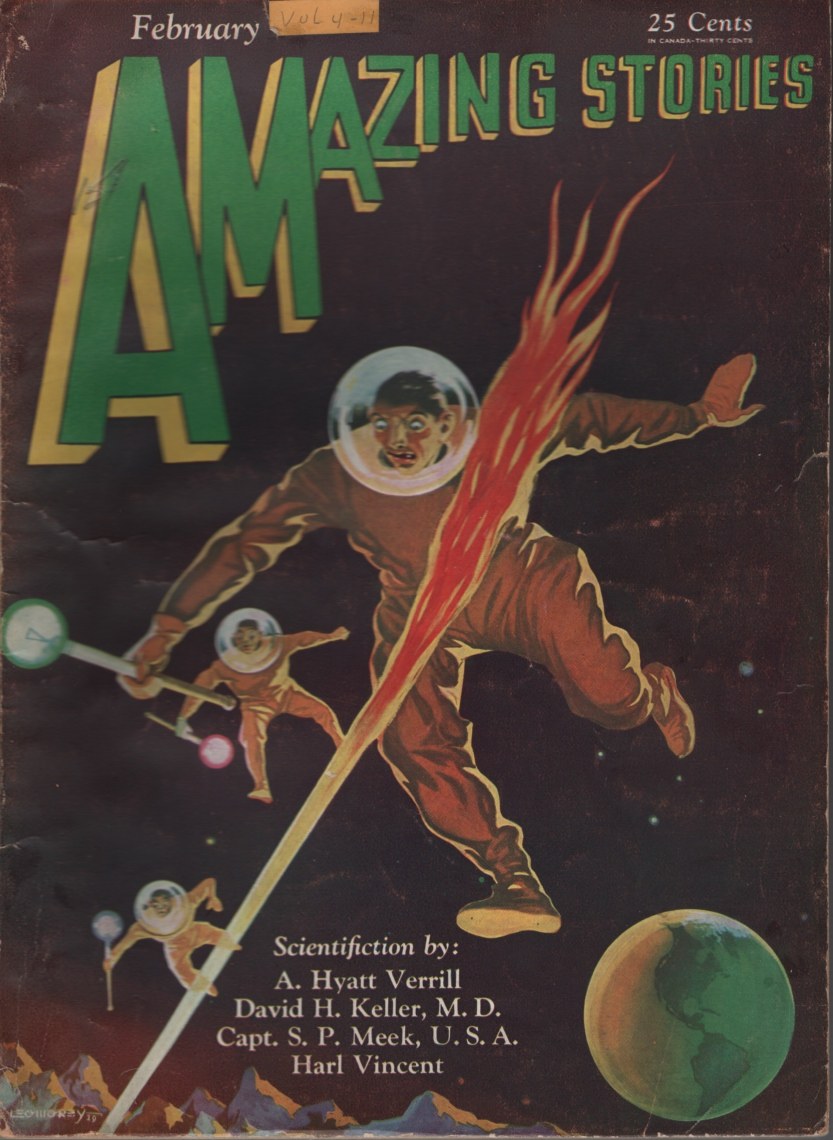 Image for Amazing Stories 1930 February.