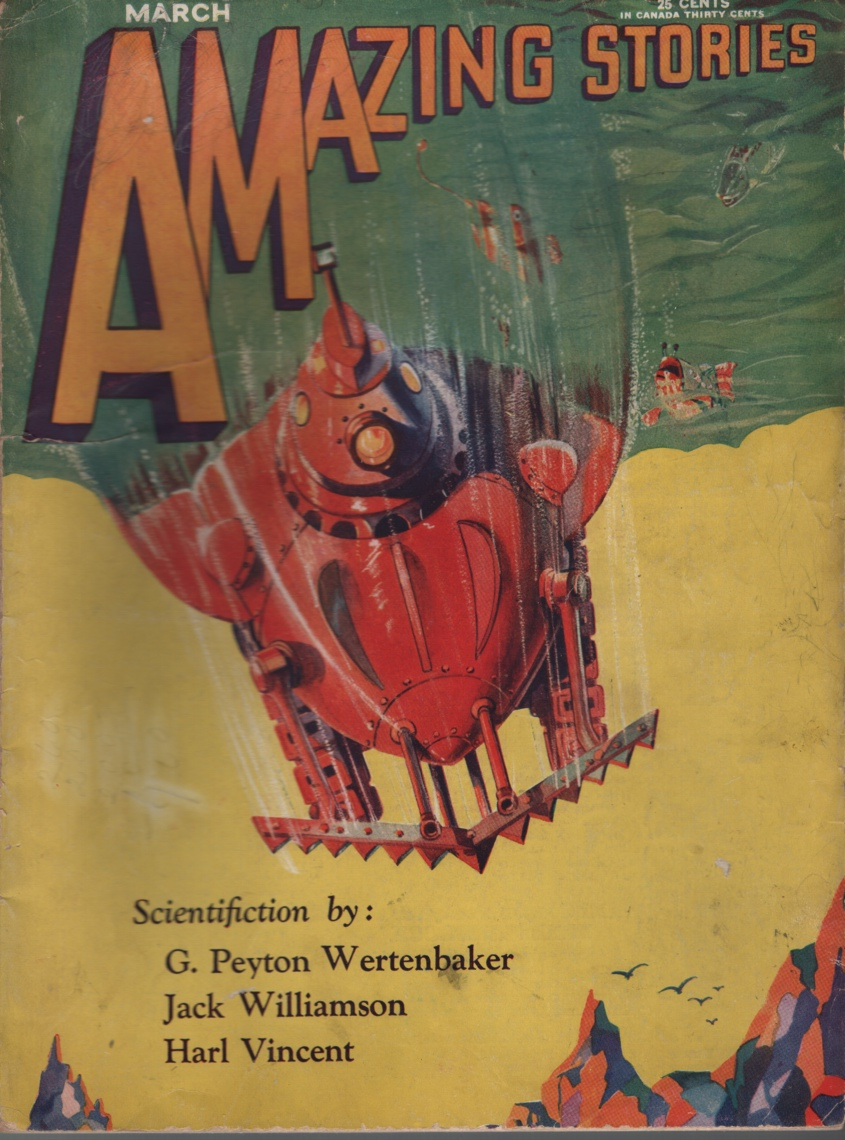 Image for Amazing Stories 1930 March. Pt. 1 of the Green Girl