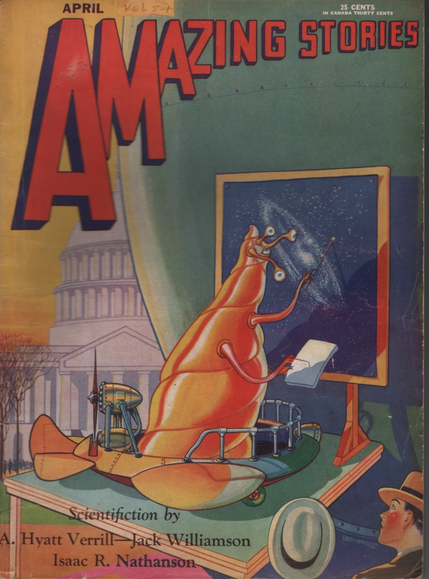 Image for Amazing Stories 1930 April. Part two of The Green Girl