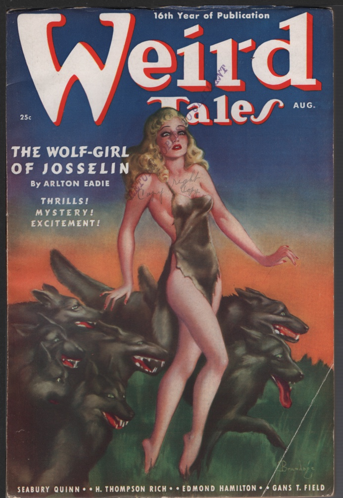 Image for Weird Tales 1938 August
