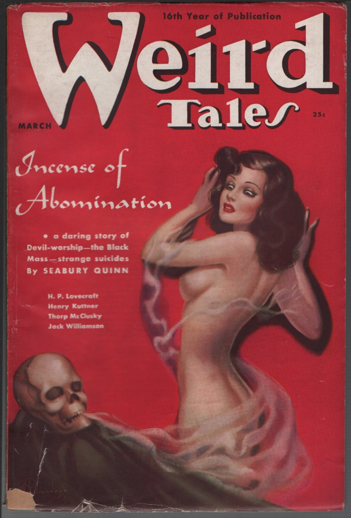 Image for Weird Tales 1938 March. Beyond the Wall of Sleep.