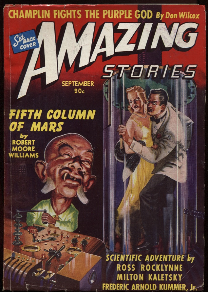 "Image for Amazing Stories 1940 September, ""Fifth Column of Mars."""