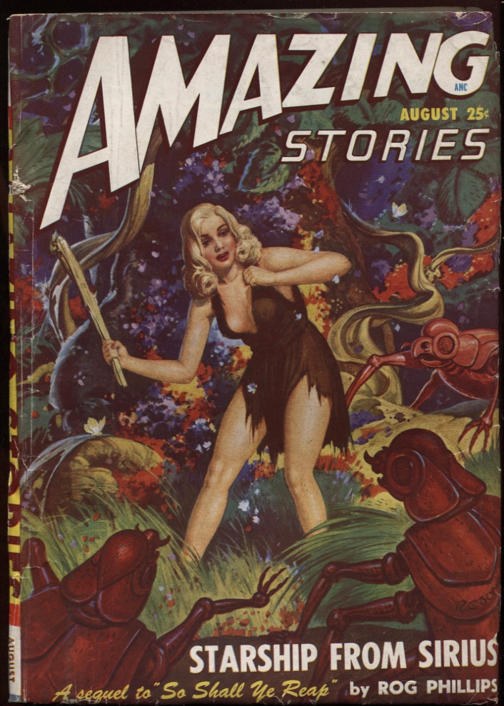 Image for Amazing Stories 1948 August.