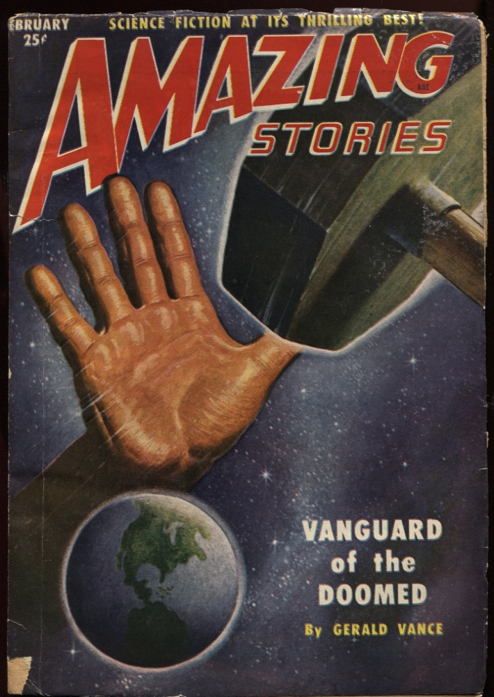 "Image for Amazing Stories 1951 February. ""Vanguard of the Doomed"""