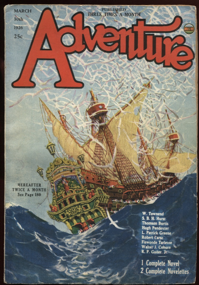 Image for Adventure March 30 1926.