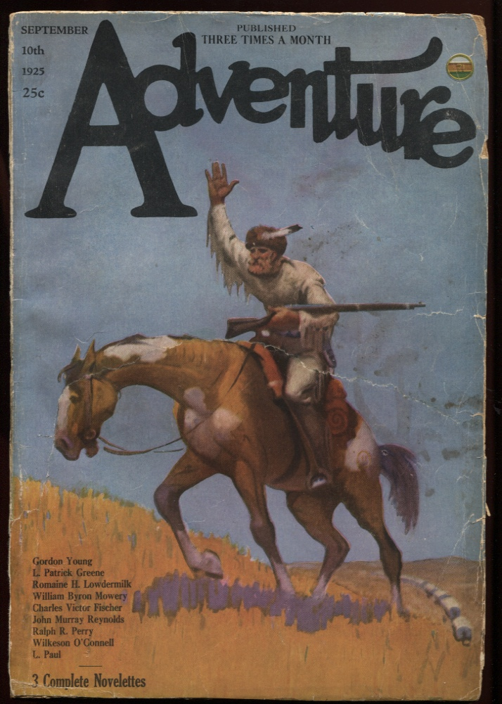 "Image for Adventure September 1925. ""Days of '49"""