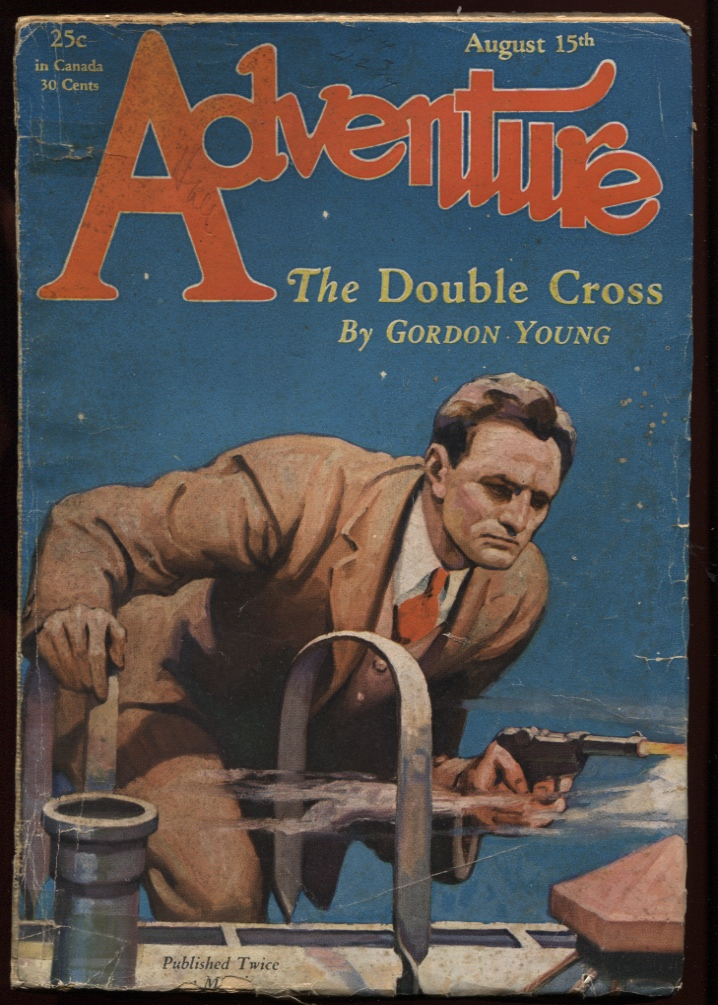 "Image for Adventure June 1 1928. ""The Double Cross."""