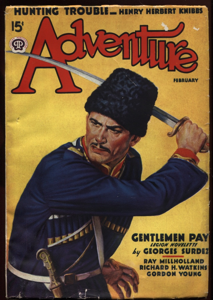 "Image for Adventure July 1937. ""The Redneck from Tulluco"""