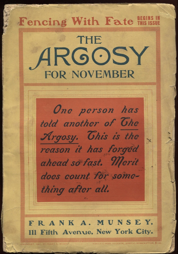 "Image for Argosy, The. November 1901. ""At the Land's End."""