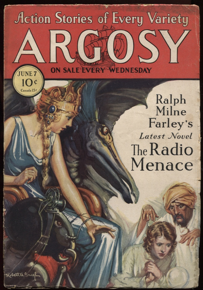 "Image for Argosy, The. (1930-06-07) June 7 1930. ""The Radio Menace"" ""Voodoo'd"" ""The Affair At Kaligaon"" ""Golden Bullets"""