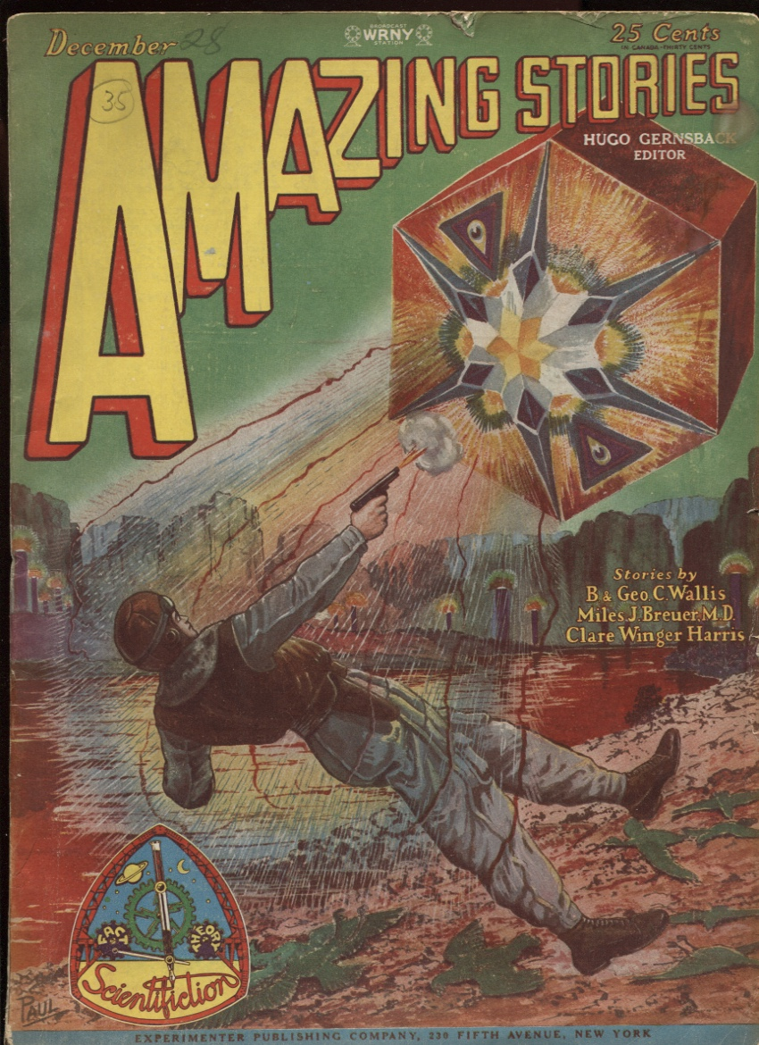"Image for Amazing Stories (1928-12) December 1928. ""The Metal Man"""