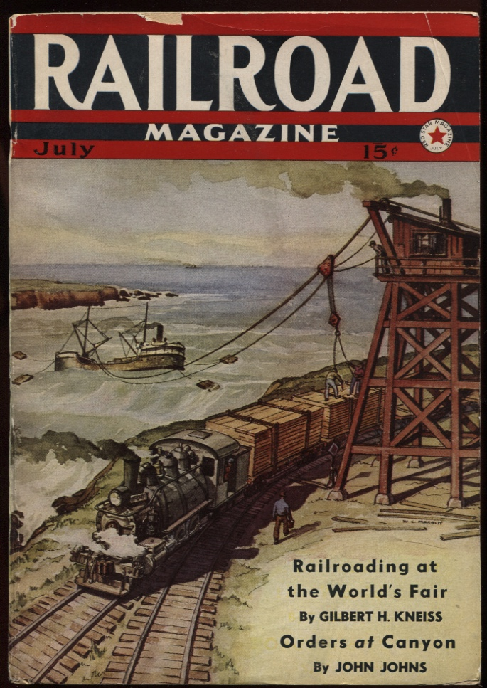 Image for Railroad Magazine 1940, July. Cargo of Lumber.