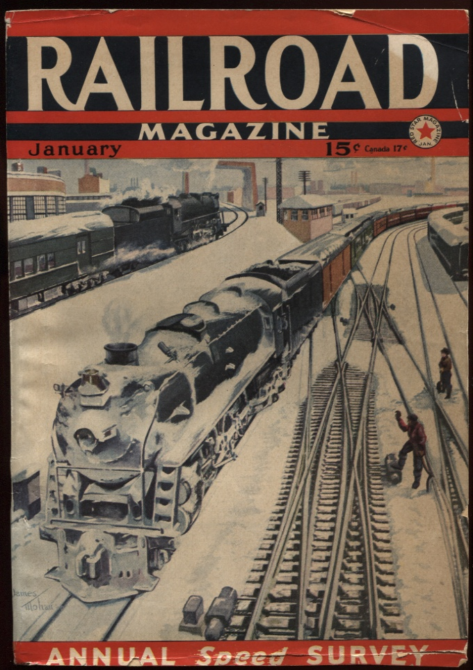 Image for Railroad Magazine 1941, January. Christmas in the Yard